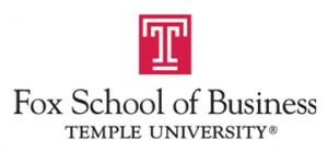 Fox School of Business Temple University logo