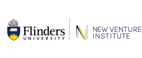 Flinders University and the New Venture Institute logos