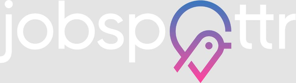 jobspottr job finding application logo
